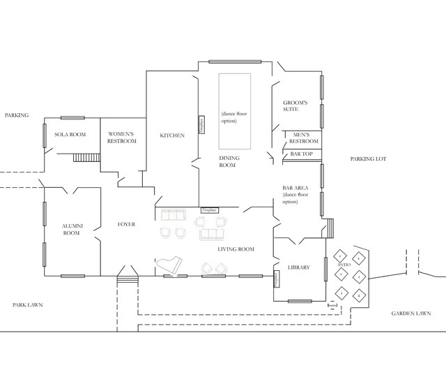 Floor Plan | Riviera Mansion Wedding