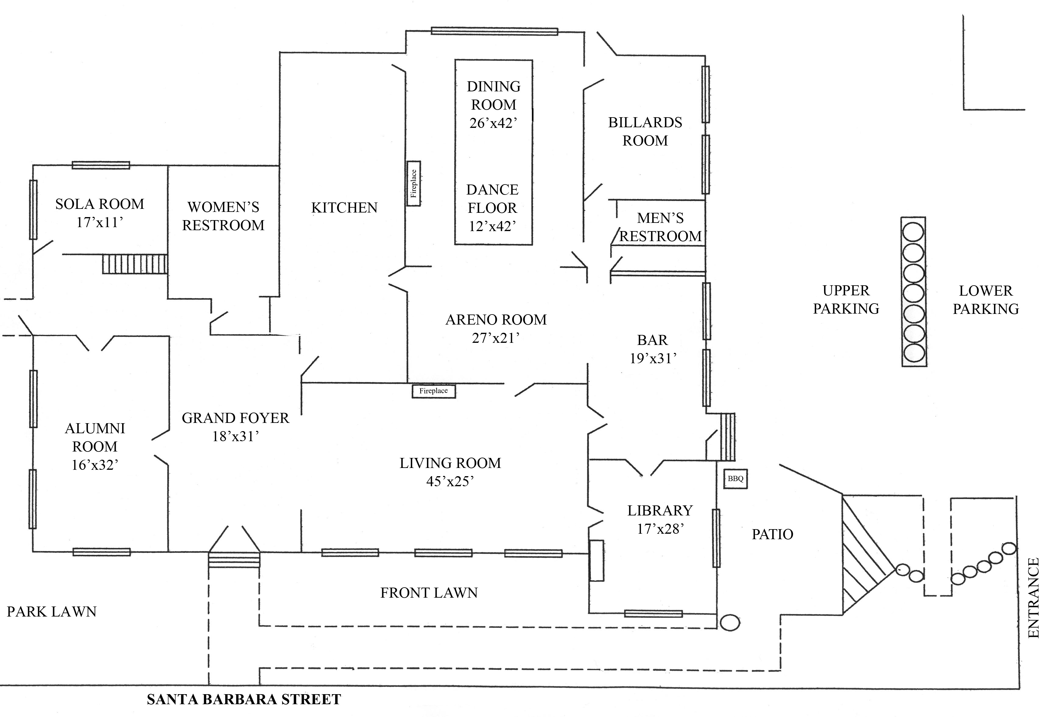 Floor plan riviera mansion wedding for Mansion floor plans with ballroom